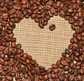 Coffee heart — Stock fotografie