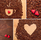 Coffee and heart set — Foto de Stock