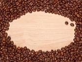 Coffee beans frame — Stock Photo