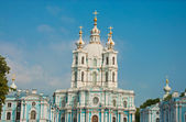 Smolny Cathedral in St Petersburg — Stock Photo