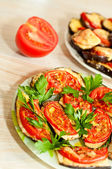 Baked eggplant with tomatoes — Foto Stock