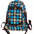 Fashion checkered backpack — Stock Photo