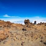 Couple on the top of Teide volcano — Stock Photo #45128083