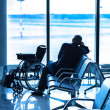 Invalid in the interior of the airport — Stock Photo #45128103