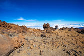 Couple on the top of Teide volcano — Stock Photo