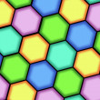Royalty-Free Stock Photo: Abstract background from hexagons
