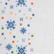Stock Photo: Cross-stitch,