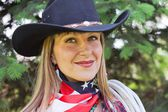 Western girl — Стоковое фото