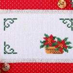 Frame with flower poinsettia — Stock Photo #35457473