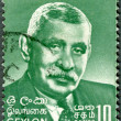 CEYLON - 1968: shows D. S. Senanayake (1884-1952), first Prime Minister of Ceylon — Stockfoto #12064200