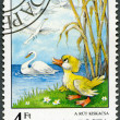 HUNGARY - 1987: shows Ugly Duckling, by Hans ChristiAndersen, Fairy Tales series — Stok Fotoğraf #12102843