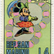 Stock Photo: SAN MARINO - 1970: shows Minnie Mouse, series Disney Characters