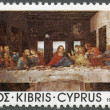 "CYPRUS - 1981: shows ""The Last Supper"", by Da Vinci, Da Vinci's visit to Cyprus, 500th anniversary - Stock Photo"