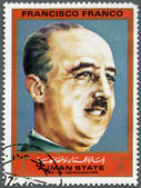 AJMAN - 1972: shows Francisco Franco (1892-1975), series Figures from the Second World War — Stock Photo
