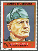 AJMAN - 1972: shows Benito Mussolini (1883-1945), series Figures from the Second World War — Stock Photo