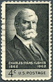 USA - 1962: shows portrait of Charles Evans Hughes (1862-1948), Governor of NY, Chief Justice of the USA — Stock Photo