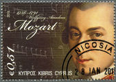CYPRUS - 2011 : shows Wolfgang Amadeus Mozart (1756-1791) — Stock Photo
