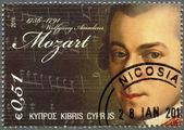 CYPRUS - 2011 : shows Wolfgang Amadeus Mozart (1756-1791) — Stock Photo