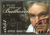 CYPRUS - 2011 : shows Ludwig van Beethoven (1770-1827) — Zdjęcie stockowe