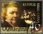 Cypern - 2006: visar rembrandt (1606-1669), målare — Stockfoto