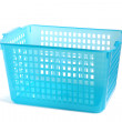 Blue plastic basket — Stock Photo #12701535