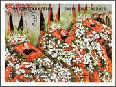 Ajman - 1971: mostra três heróis soviéticos — Fotografia Stock