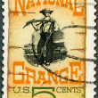 Stock Photo: US- 1967: shows Grange Poster, 1870, Centenary founding of National Grange, Americfarmers organization