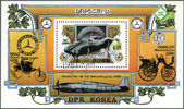 NORTH KOREA - 1981: shows Mercedes-Benz W196, 1954 automobile, Naposta-81 International Stamp Exhibition, Stuttgart — Stock Photo