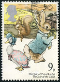 GREAT BRITAIN - 1979: shows The Tale of Peter Rabbit, the year of the child, series Children's book — Stock Photo