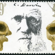 Stock Photo: GREAT BRITAIN - 1982: shows Charles Darwin and Skulls, Death Centenary of Charles Darwin (1809-1882)