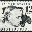 UNITED STATES OF AMERICA - 1968: shows Henry Ford (1863-1947) and car Ford Model T from 1909 - Foto de Stock