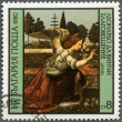 "BULGARIA - 1980: shows ""Annunciation"" by Leonardo da Vinci — Stock Photo #13158929"