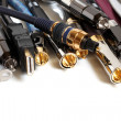 Group  of audio/video cables - Stock Photo