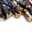 Group  of audio/video cables — Stock Photo
