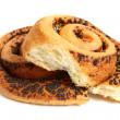 Bun with poppyseed — Stock Photo