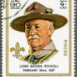 Stock Photo: AJMAN - 1970: shows Robert Baden-Powell (1857-1941)