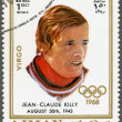 Stock Photo: AJMAN - 1970: shows Jean-Claude Killy (born 1943)