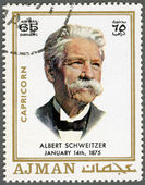 AJMAN - 1970: shows Albert Schweitzer (1875-1965) — Stock Photo