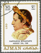 AJMAN - 1970: shows Napoleon Bonaparte (1769-1821) — Stock Photo
