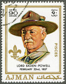AJMAN - 1970: shows Robert Baden-Powell (1857-1941) — Stock Photo