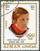 AJMAN - 1970: shows Jean-Claude Killy (born 1943) — ストック写真