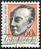 CZECHOSLOVAKIA - 1965: shows Bohuslav Martinu (1890-1959), composer — Foto de Stock
