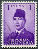 INDONESIA - 1951: shows President Sukarno (1901-1970) — Stock Photo