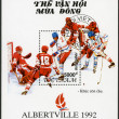 Stock Photo: VIETNAM - 1991: shows Hockey, 1992 Winter Olympics, Albertville