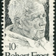Stockfoto: UNITED STATES OF AMERIC- 1974: shows Robert Frost (1874-1963), Americpoet