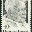 Stock Photo: UNITED STATES OF AMERIC- 1974: shows Robert Frost (1874-1963), Americpoet