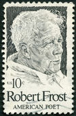 UNITED STATES OF AMERICA - 1974: shows Robert Frost (1874-1963), American poet — Stock Photo