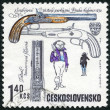 CZECHOSLOVAKIA - 1969: shows Duelling pistols, from Lebeda workshop, Prague, 1835, series Historical Firearms — Stock Photo