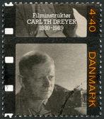 丹麦-1989年: 显示卡尔 th。dreyer (1889年-1968)、 导演兼编剧 — 图库照片
