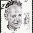 Stock Photo: RUSSI- 1990: shows Mikhail A. Sholokhov (1905-1984), Nobel Laureate in Literature